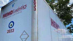 hemo logistics shipping trailer